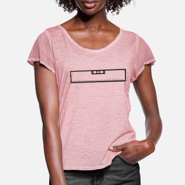 Measure Measure renovate level ruler measure measure measu - Women's Ruffle T-Shirt