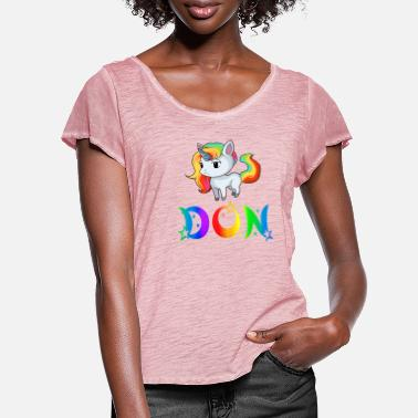 Dons Unicorn Don - Women's Ruffle T-Shirt