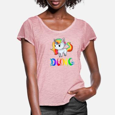 Dung Unicorn dung - Women's Ruffle T-Shirt