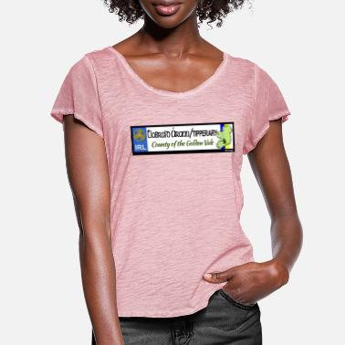 TIPPERARY, IRELAND: licence plate tag style decal - Women's Ruffle T-Shirt