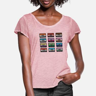 Cassette Cassette Tapes Retro - Women's Ruffle T-Shirt