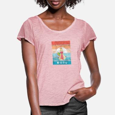 Yoga and unicorn, humor gift idea - Women's Ruffle T-Shirt