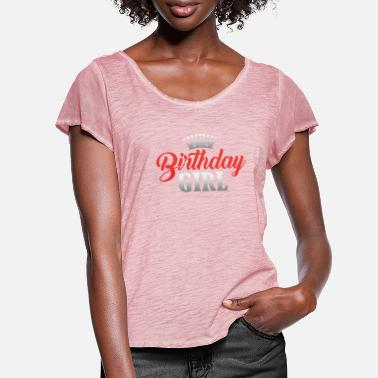 Celebrating With The 30th Birthday Queen Birthday Princess Queen Birthday Gift - Women's Ruffle T-Shirt