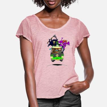Scooby No Scooby fan art final - Women's Ruffle T-Shirt