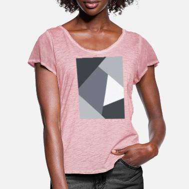 Graphic Art Square Graphic - Frauen T-Shirt mit Flatterärmeln