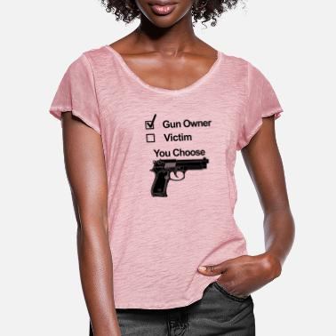 Gun Owner gun owner victim - Women's Ruffle T-Shirt