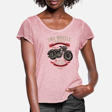 Two-wheeled Two Wheels Forever - Women's Ruffle T-Shirt
