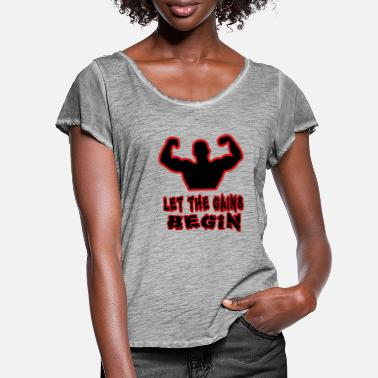 Gains gains - Women's Ruffle T-Shirt