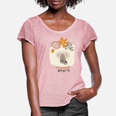 Bouddhisme APPEL YOGA HEAD JE SUIS UNE COLLECTION YAMA YOGA - T-shirt mancherons évasés Femme