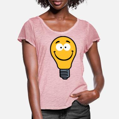 Wacky Wacky Lightbulb - Women's Ruffle T-Shirt