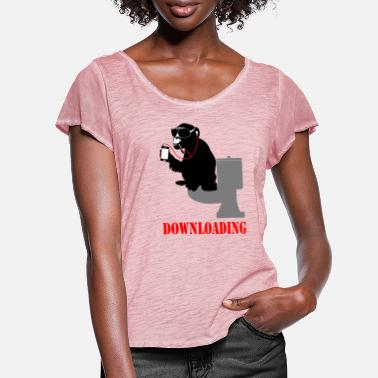 Download downloading - Women's Ruffle T-Shirt