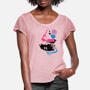 Pop Rock car dj pop rock - Women's Ruffle T-Shirt