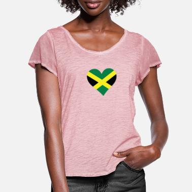 Commonwealth A Heart For Jamaica - Women's Ruffle T-Shirt