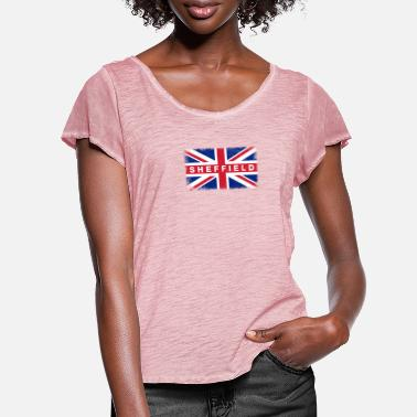 Sheffield-united Sheffield Shirt Vintage United Kingdom Flag - Women's Ruffle T-Shirt