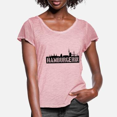 Hamburg HAMBURGER HAMBURG - Women's Ruffle T-Shirt