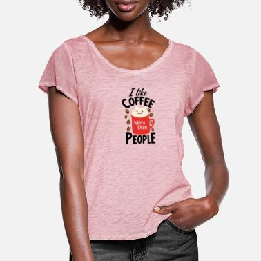 Officer I like coffee gift mug - Women's Ruffle T-Shirt