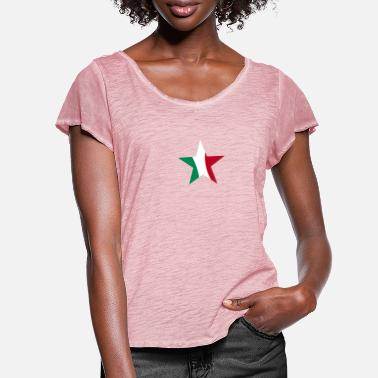 star italy - Women's Ruffle T-Shirt