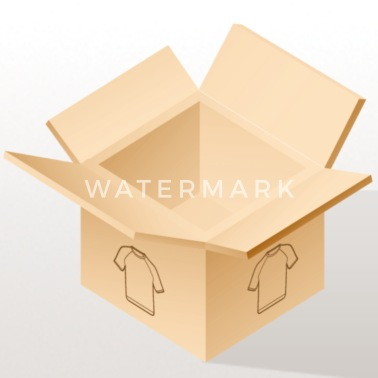 Urmenneske piktogram 6 rød - iPhone X & XS cover