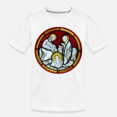 Medieval church window holy family - Teenager Organic T-Shirt