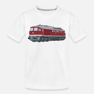 Ludmilla Lok Diesel Locomotive Taiga Drum BR 130 BR 132 - Teenager Organic T-Shirt