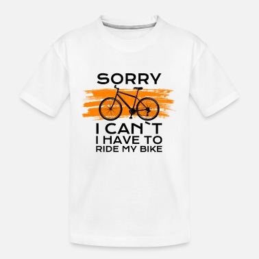 Bike Chrismas sorry i cant i have to ride my bike - Teenager Bio T-Shirt