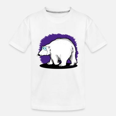 Enzocomics Tier-Shirt Eisbär - Teenager Bio T-Shirt