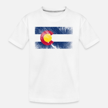 Colorado USA vintage vlag - Teenager biologisch T-shirt
