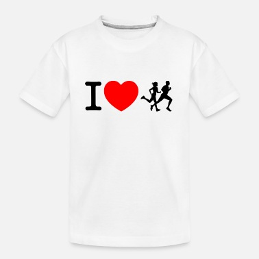 Sprinten I love racing - jogging - Teenager Organic T-Shirt