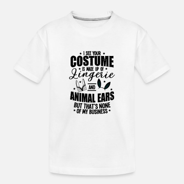 Animal Underwear Halloween Sexy Ears Underwear Costume Gifts - Teenager Organic T-Shirt