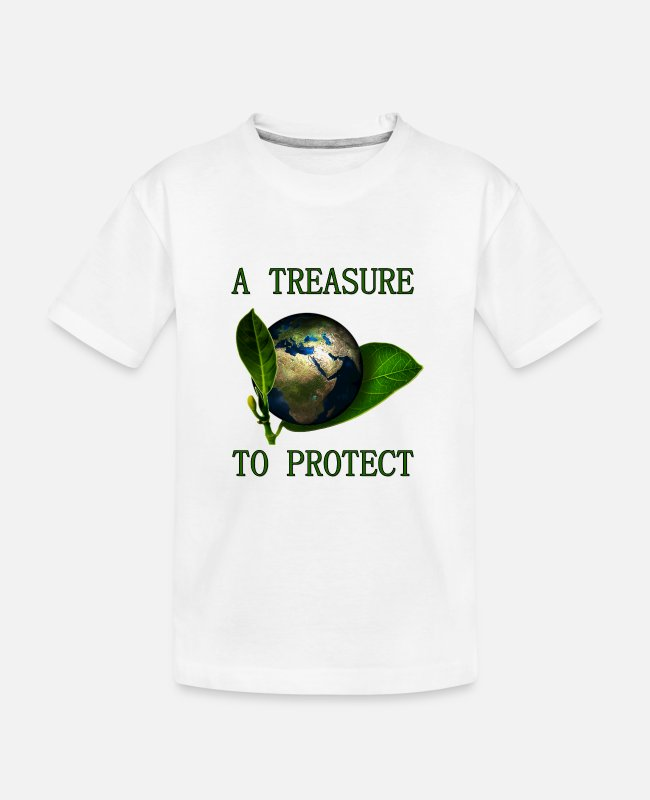 Umweltschutz T-Shirts - A Treasure to Protect (our Planet) - Teenager Bio T-Shirt Weiß