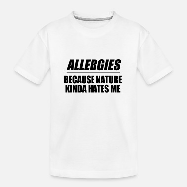 Allergie-patiënten - Teenager biologisch T-shirt