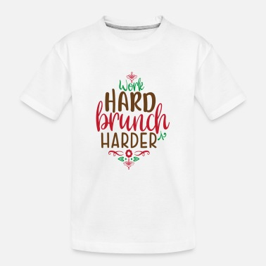 Weihnachtsmann Work hard brunch harder - Teenager Bio T-Shirt