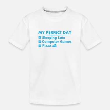 Gamershirt · Perfecte dag · Videogamegeschenk - Teenager biologisch T-shirt