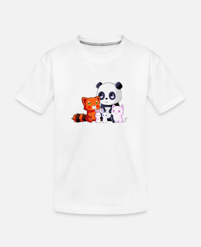 Kawaii Gato Camisetas - Team Kawaii - Camiseta orgánica adolescente blanco