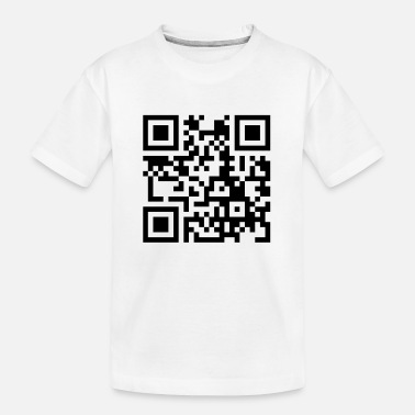 Pinda S its_peanut_butter_jelly_time_qrcode_1c - Teenager biologisch T-shirt