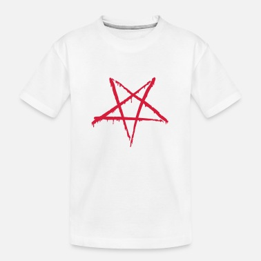 Blutig Blutiges Pentagram - Teenager Bio T-Shirt