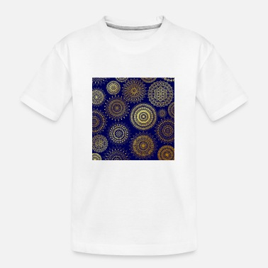 Christina Creation Mandalas blue gold - Teenager Organic T-Shirt