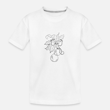 Decoratie De decoratie van Kerstmis - Teenager biologisch T-shirt