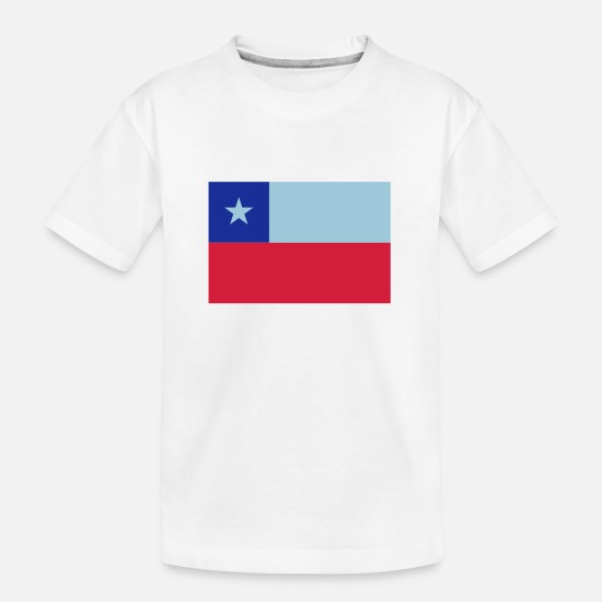 South America T-Shirts - Chile - Teenager Organic T-Shirt white
