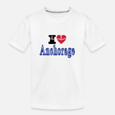 Anchorage i love Anchorage - Teenager Organic T-Shirt