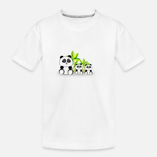 Panda T-Shirts - Panda pandas family - Teenager Organic T-Shirt white