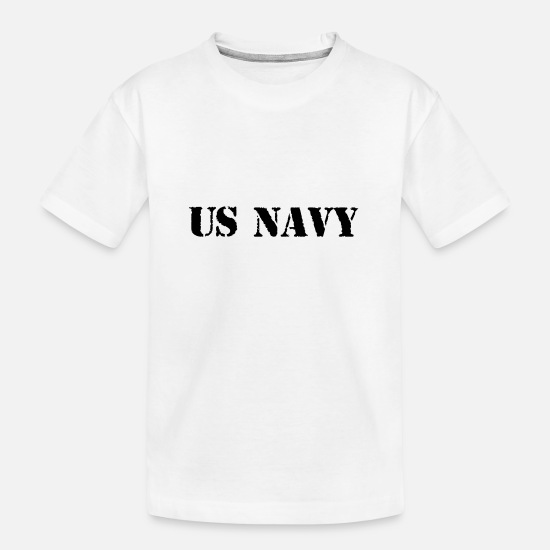 Army T-Shirts - us navy - Teenager Organic T-Shirt white
