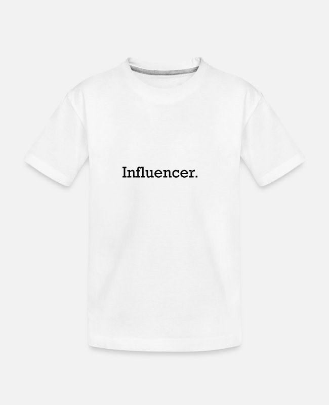 Beliebt T-Shirts - Influencer - Teenager Bio T-Shirt Weiß