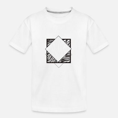 KUNSTRIGT & ABSTRAKT / STREETWEAR-DESIGN - Teenager T-shirt økologisk