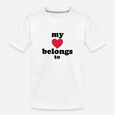 Valentinstag my heart belongs to + text - Teenager Bio T-Shirt