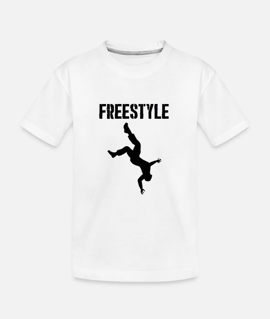 Freestyle T-Shirts - Freestyle, parkour, athletic, fitness, giftidea - Teenager Organic T-Shirt white