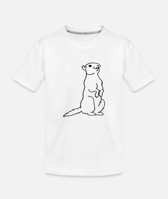 Mountains T-Shirts - groundhog - Teenager Organic T-Shirt white