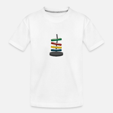 Coloured disks - Teenager Organic T-Shirt
