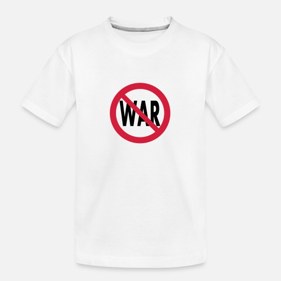 Politics T-Shirts - no war - Teenager Organic T-Shirt white