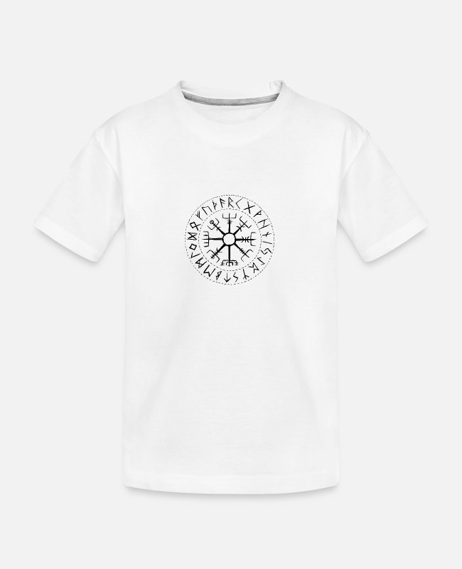 Viking T-Shirts - Vegvisir - the guide with older Futhark - Teenager Organic T-Shirt white